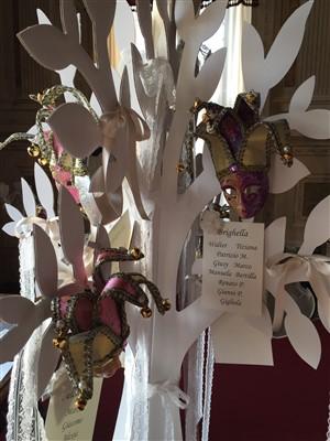 tableau per matrimonio tema carnevale veneziano