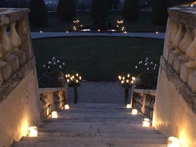 decorazioni location esterna per matrimonio tema carnevale veneziano
