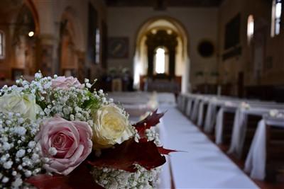 dettaglio floreale per matrimonio a tema danza