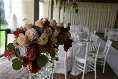 allestimento floreale location - matrimonio a tema danza