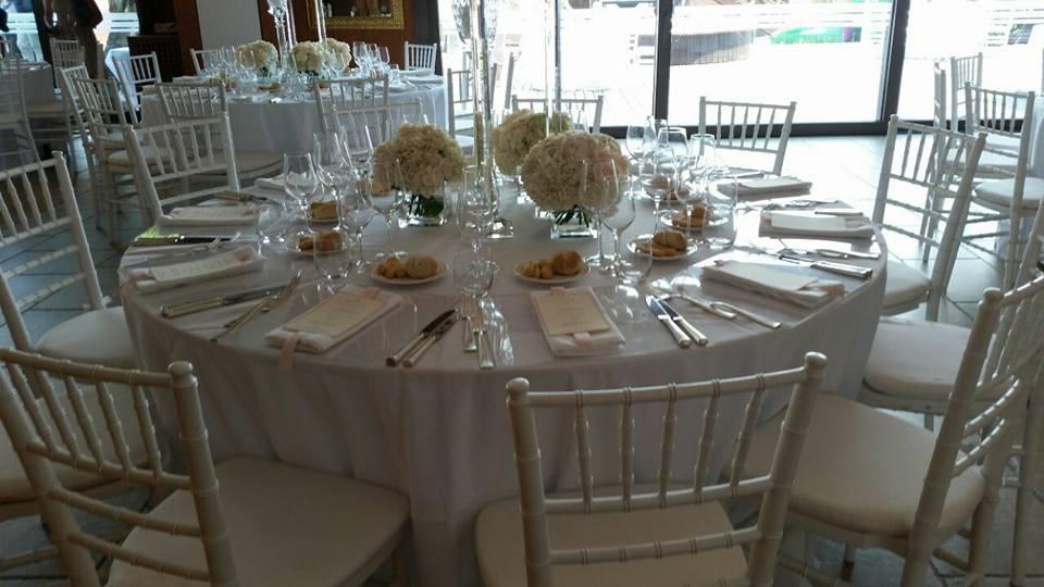 allestimento tavoli - matrimonio veneziano