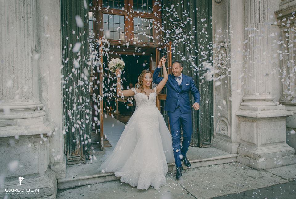 uscita degli sposi - matrimonio veneziano