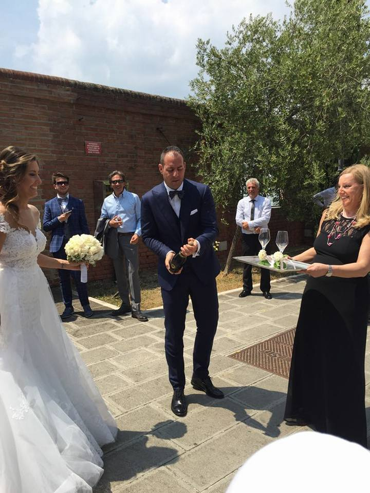 sposi e Mara - matrimonio veneziano