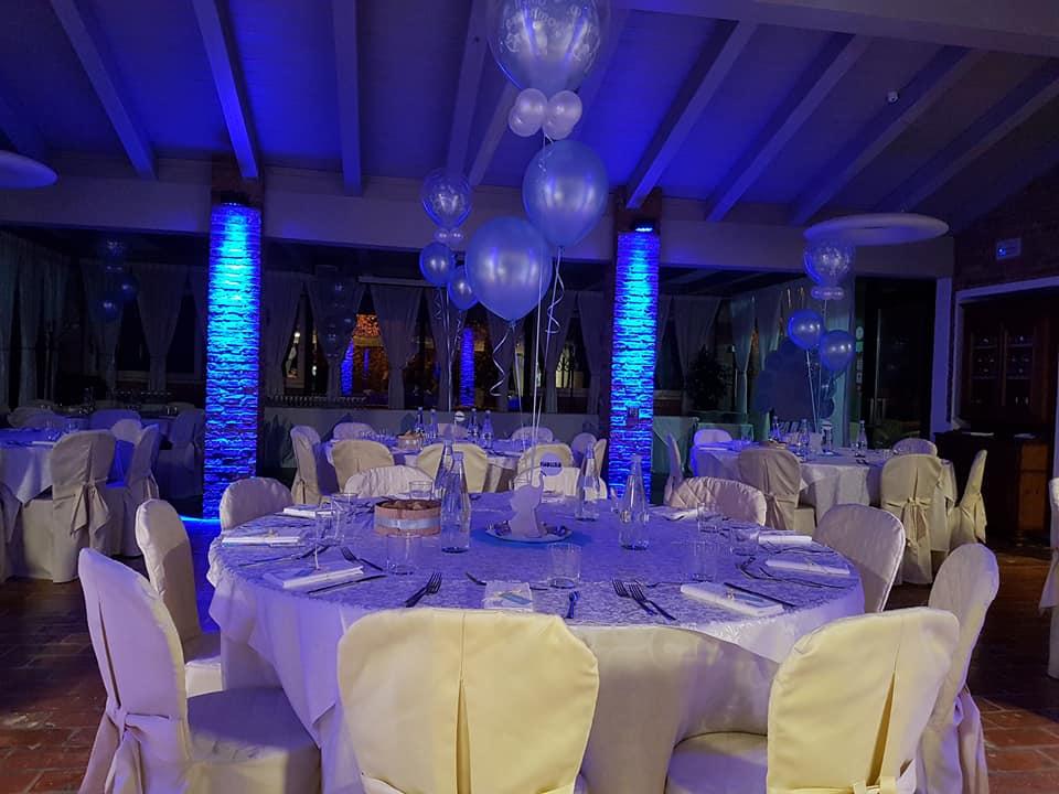 battesimo azzurro - allestimento tavoli e location