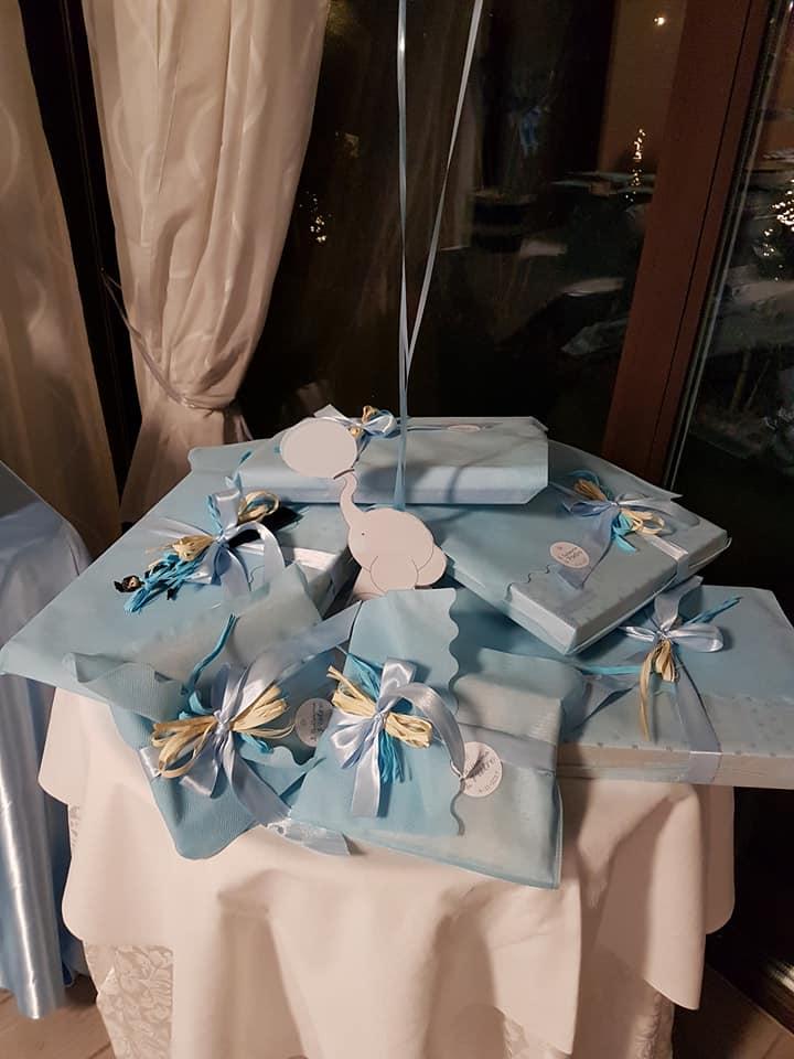 battesimo azzurro - bomboniere